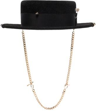 Ruslan Baginskiy Chain Strap Boater Hat