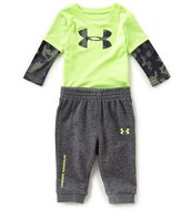 Under Armour Baby Boys Newborn-12 Months Two-Fer Bodysuit & Pant Set