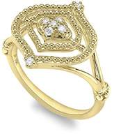"Judith Ripka Women's ""Stella"" 18ct Yellow Gold Diamond Small Ring Size - N"