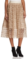 Alice + Olivia Almira Embroidered Lace Party Skirt