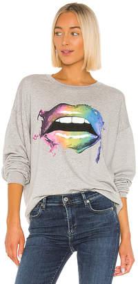 Lauren Moshi Babbs Smudge Lip Sweatshirt