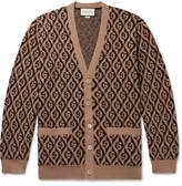 Gucci Logo-Jacquard Wool Cardigan