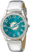 Game Time NFL Women's 10027103 Watch and Coin Purse Analog Display Japanese Quartz White Watch