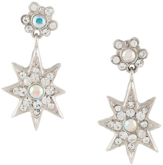 Christian Dior 1980s Pre-Owned Star Drop Earrings