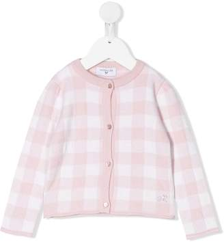 MonnaLisa gingham long-sleeve cardigan