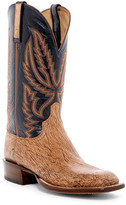 Lucchese Genuine Hornback Caiman Crocodile Leather Cowboy Boot