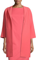 Lafayette 148 New York Mary Long 3/4-Sleeve Topper Jacket, Bellini
