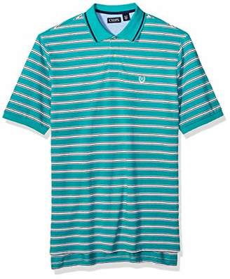 Chaps Men's Big and Tall Classic Fit Striped Cotton Mesh Polo Shirt