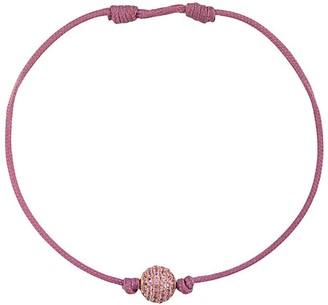 Shamballa Jewels 18kt Rose Gold Pave Pink Sapphire Orb Bracelet