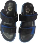 Dries Van Noten Blue Pony-style calfskin Sandals