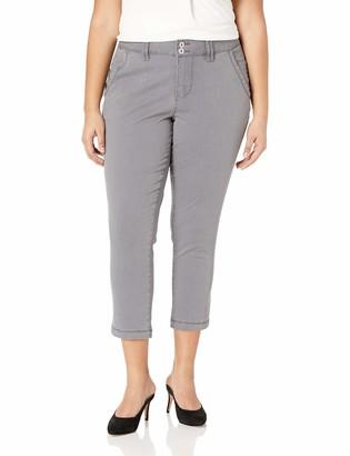 Jag Jeans Women's Plus Size Flora Chino Crop