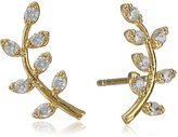 Tai Leaf Post Stud Earrings