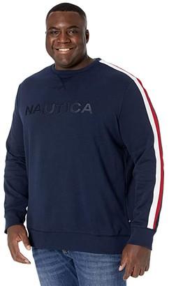 Nautica Big Tall Crew Neck Fleece (Navy) Men's Clothing
