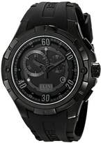 Elini Barokas Men's ELINI-10005-BB-01-GRYA Trespasser Analog Display Swiss Quartz Black Watch