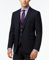 Bar III Navy Solid Extra Slim-Fit Jacket