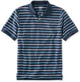 L.L. Bean L.L.Bean Premium Double L Polo, Banded Short-Sleeve Without Pocket Stripe