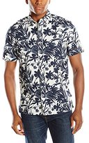 Nautica Men's Floral Printed Linen Blend Short-Sleeve Shirt