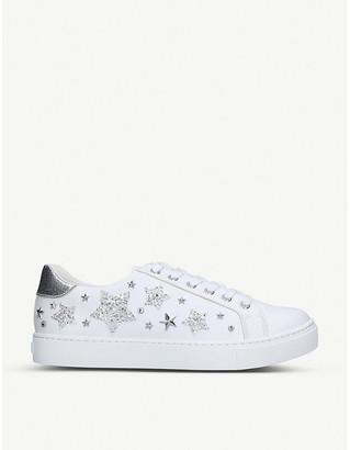 Aldo Orion glitter star-embellished trainers