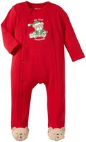 Little Me Bear Footie (Baby) - Red-9 Months