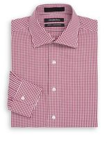 Saks Fifth Avenue Slim-Fit Mini Gingham Cotton Dress Shirt & Gift Box