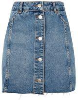 Topshop Moto button front mini skirt