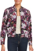 Magaschoni Floral Printed Silk Jacket