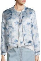 Paige Rosie HW x Kimi Forever & Ever Tie-Dye Silk Bomber Jacket
