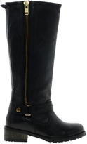 Asos CANNON Leather Knee Boots - Black
