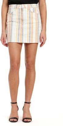 Mavi Jeans Lindsay Cutoff Stripe Denim Miniskirt