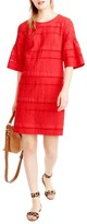 J.Crew Women's Flutter Sleeve Eyelet Shift Dress