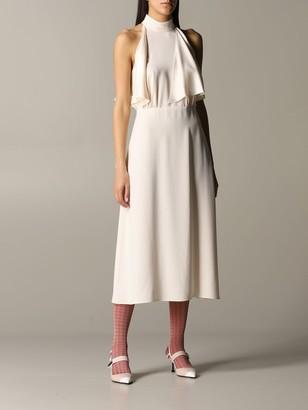 Prada Silk Dress With Ruffles