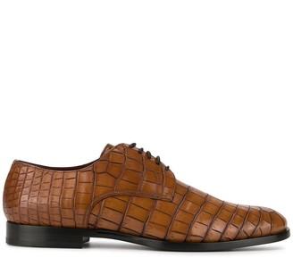 Dolce & Gabbana Crocodile Effect Derby Shoes