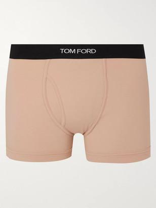 Tom Ford Stretch-Cotton Boxer Briefs - Men - Neutrals