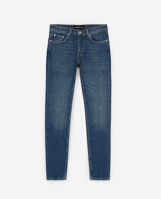 The Kooples Ripped vintage jeans with leather logo tag
