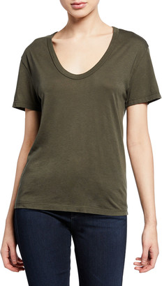 AG Jeans Henson Scoop-Neck Short-Sleeve Tee