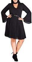 City Chic Plus Size Women's Praise Me Bell Sleeve Choker Neck Dress