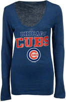 5th & Ocean Women's Chicago Cubs Glitter Long Sleeve T-Shirt