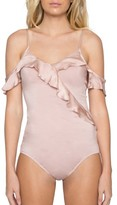 Willow & Clay Women's Ruffle Off The Shoulder Bodysuit