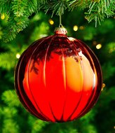 Southern Living Nostalgic Noel Collection Oversized Ribbed Ball Ornament