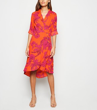 New Look Influence Floral Midi Wrap Dress