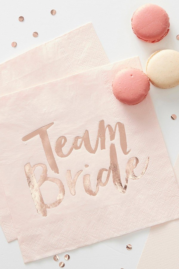 Ginger Ray Team Bride Hen Napkins 16Pck
