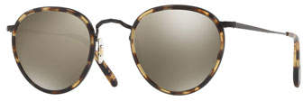 Oliver Peoples MP-2 Mirrored Round Sunglasses