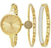 SO&CO New York Women's 5297.SET.2 Madison Quartz Gold-Tone Stainless Steel Slim Dress Watch With Two Bangle Bracelets