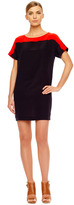Michael Kors Two-Tone Crepe Dress