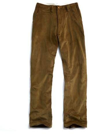 E. Tautz Core Field Corduroy Trouser in Green