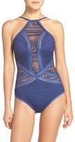 Becca Women's Prairie Rose Crochet One-Piece Swimsuit