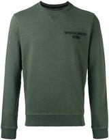 Woolrich crew neck logo sweatshirt - men - Cotton - M