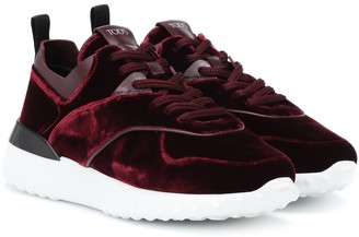 Tod's Exclusive to Mytheresa velvet sneakers