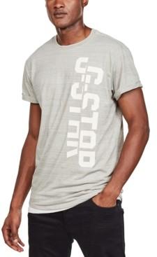 G Star Men's Split Logo Heathered T-Shirt, Created for Macy's