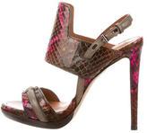 Reed Krakoff Snakeskin Multistrap Sandals